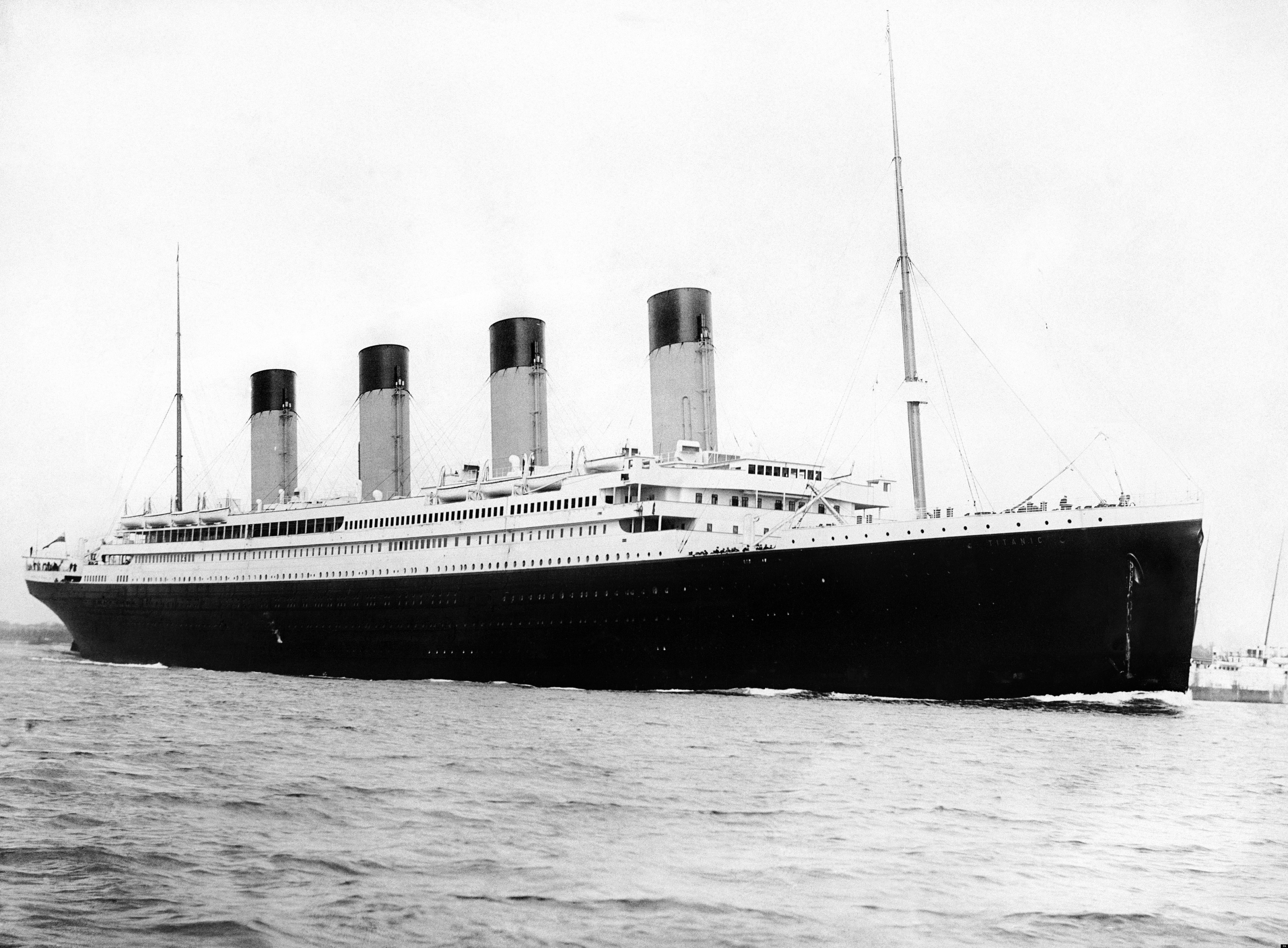 RMS Titanic departing Southampton