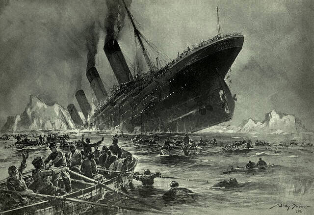 Sinking of the Titanic on April 14