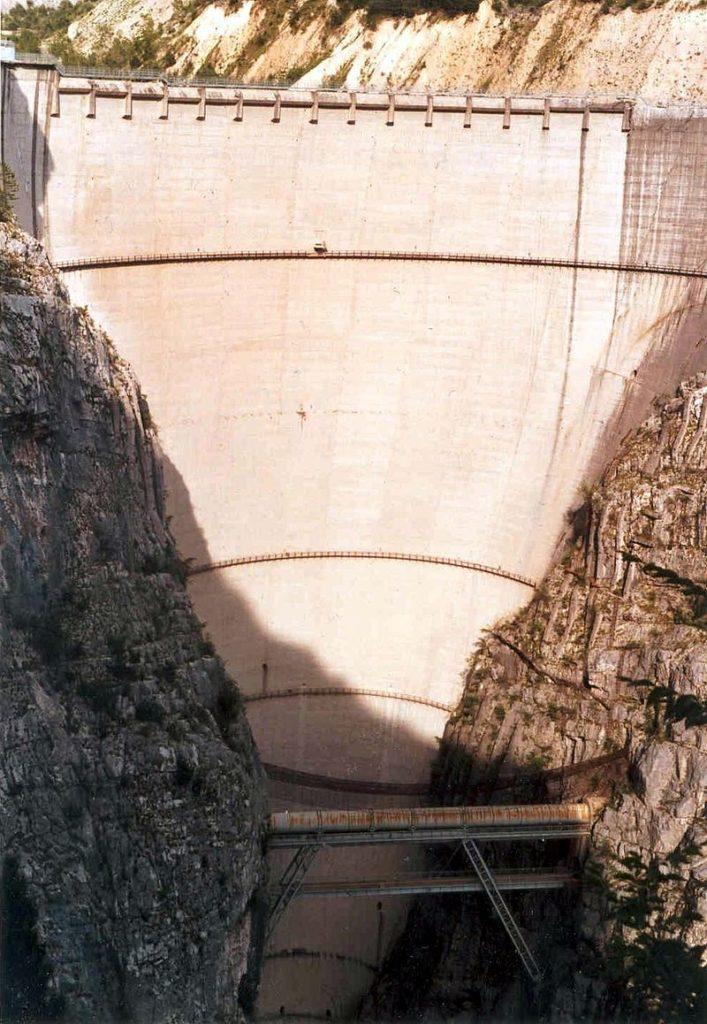 Vajont Dam in 2002